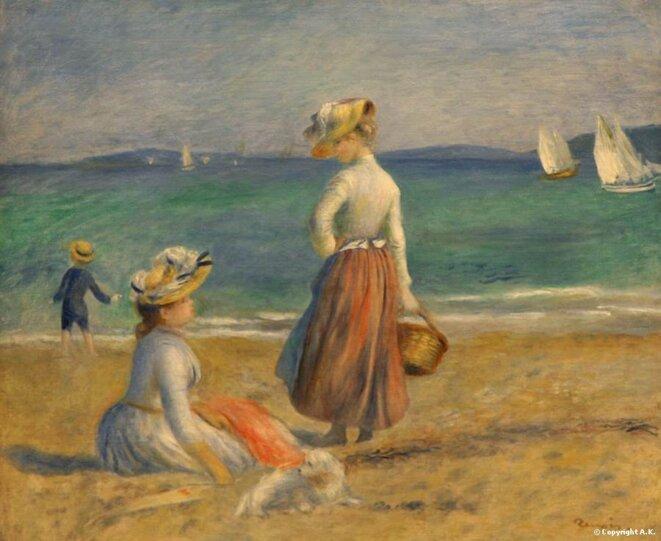 Personnes sur la plage © Pierre Auguste Renoir