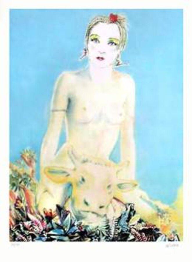 Martial Raysse, «Enlèvement d'Europe », photolithographie, 1989
