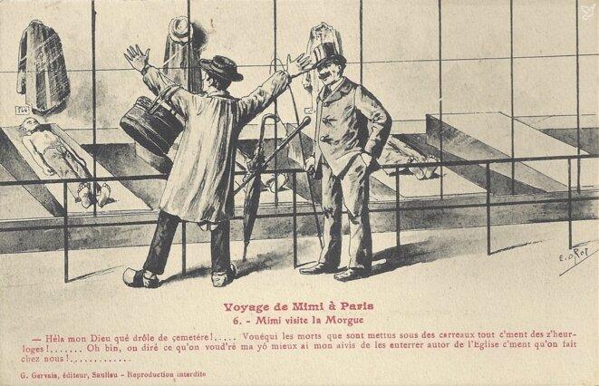 """Carte postale """"Voyage de Mimi à Paris"""" © G. Gervais éditeur"""