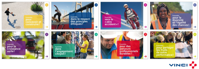 """Le """"manifeste"""" du groupe industriel français Vinci"""