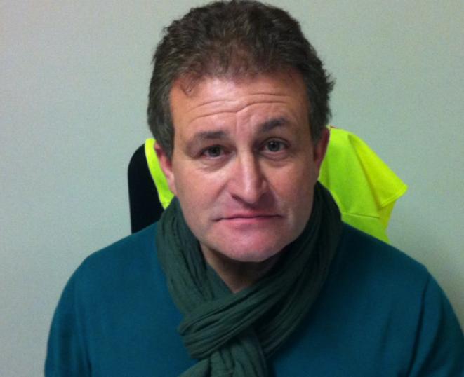 Laurent Dias, secrétaire de la section Auvergne de la CGT Construction
