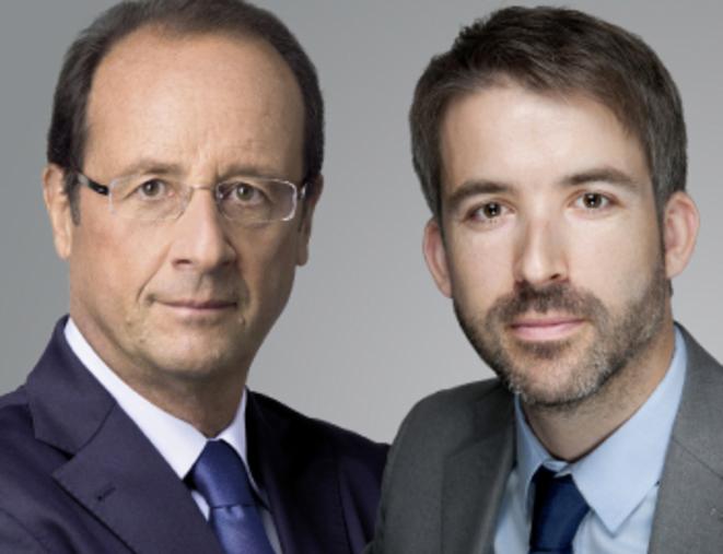 Julien Landfried avec François Hollande