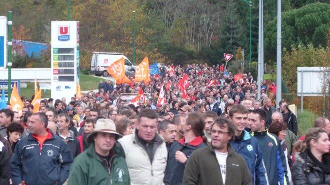 Un millier de manifestants dans les rues du Cheylard, jeudi 3 novembre