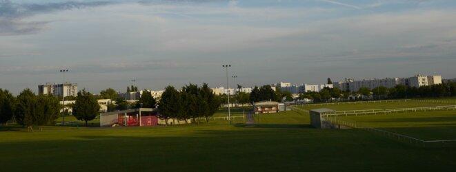 La cité des 3000 à Aulnay vue du parc Robert Ballanger