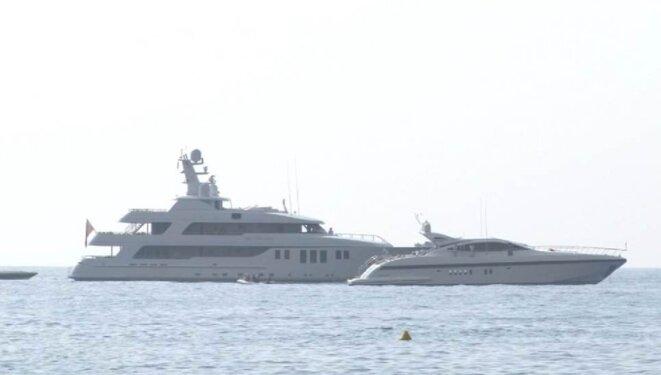 Les yachts loués pour célébrer les 125 ans de la banque, en juin 2010. © DR