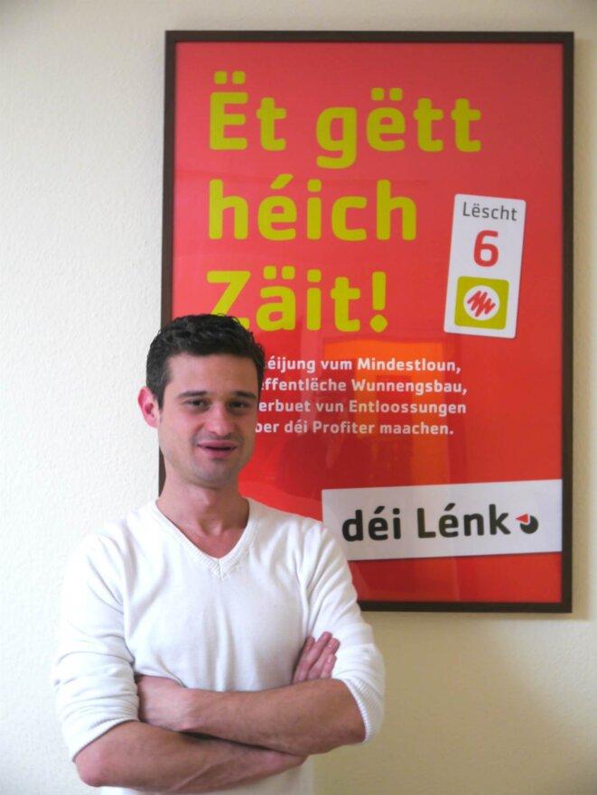 David Wagner, porte-parole du parti Déi Lénk.