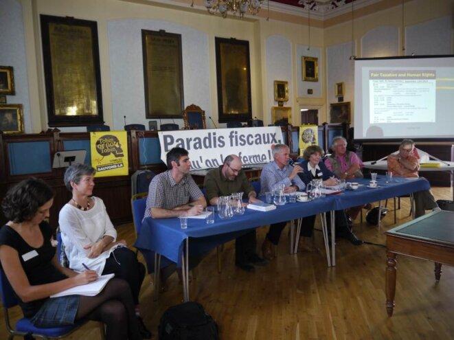 Les intervenants invités par Attac, le 12 septembre à Jersey