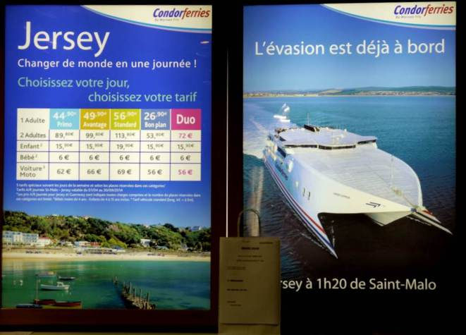 Au terminal des ferries de Saint-Malo, direction Jersey.