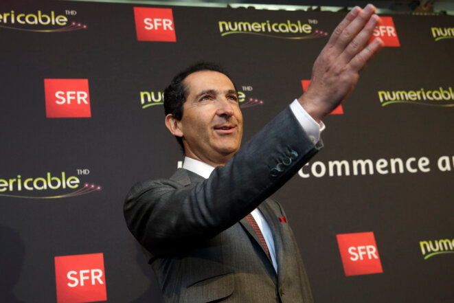 Patrick Drahi, le 7 avril à Paris ©  Reuters - Philippe Wojazer