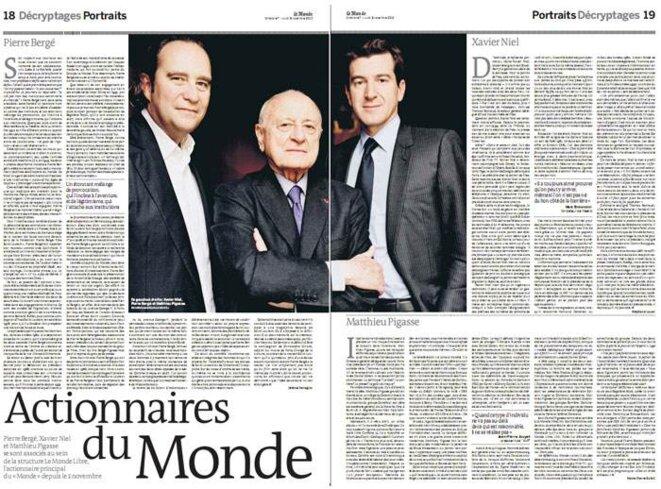 Quand Le Monde faisait le portrait de ses actionnaires - 7 novembre 2010