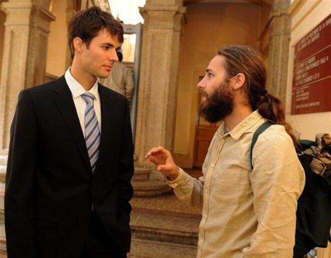 Les militants de Greenpeace Emannuel et Jonathan