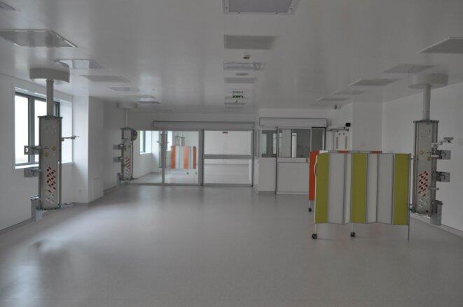 Une salle de réveil du CHSF, équipée mais pourtant inutilisée