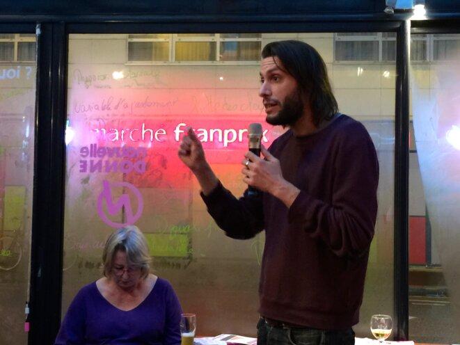 Jean-Marie Perbost lors du café citoyen du 28 janvier 2015 © Yannick Sanchez