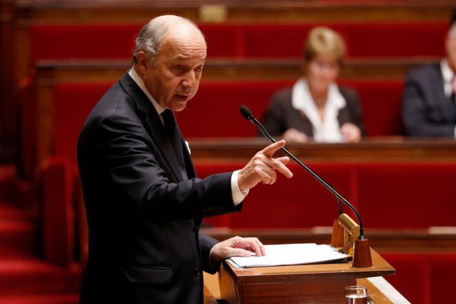 Laurent Fabius face à une Assemblée clairsemée le 28 novembre 2014 © Charles Platiau - Reuters