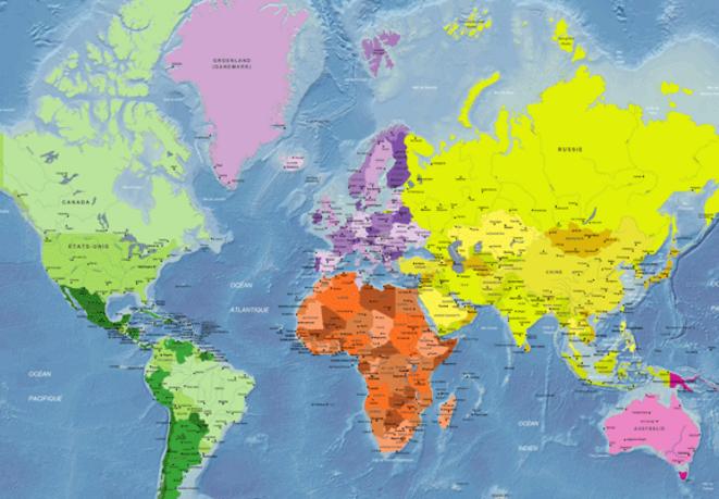 L 39 imp rialisme par la cartographie avec les cartes - Carte du monde geante a acheter ...