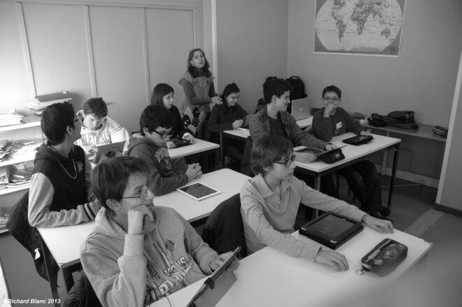 École Plus Paris Photo classe tablettes Ipad © ©Richard Blanc 2013