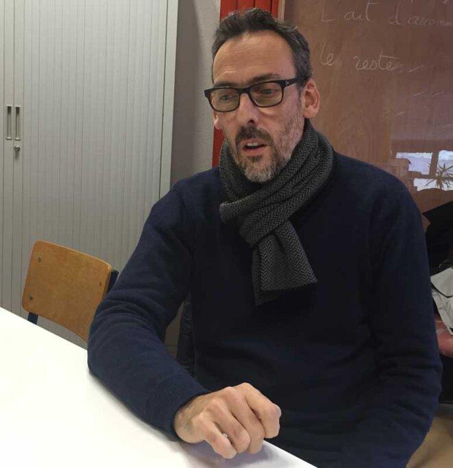 Richard Schotte le 17 novembre dans les locaux de l'EMAP de Dunkerque © ESÄ