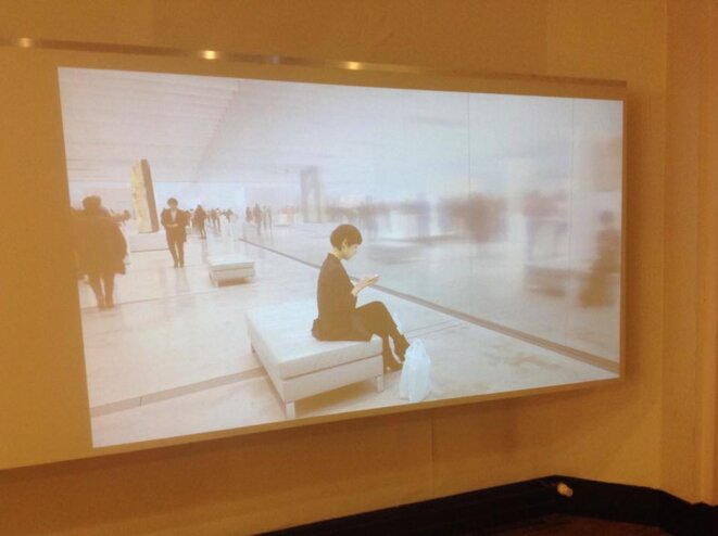 """Robin Labriaud, """"Levant"""", videoprojection"""