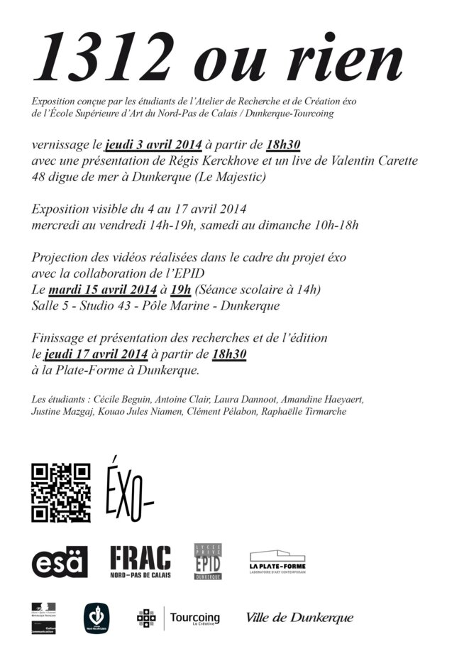 flyer - Exposition EXO -