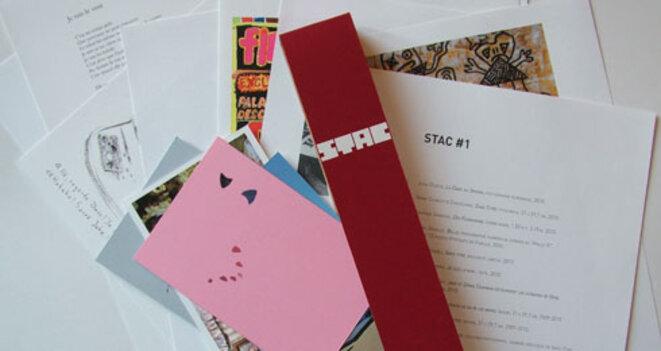 Vue de a revue de l'association des étudiants : STAC (Sans Titre Avec Contenu). © Marie Decarnin