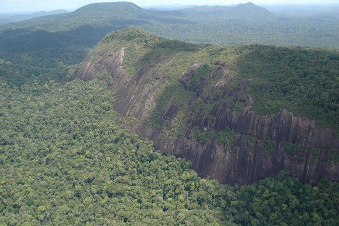 Massif tabulairedu Mitaraka. Guyane.