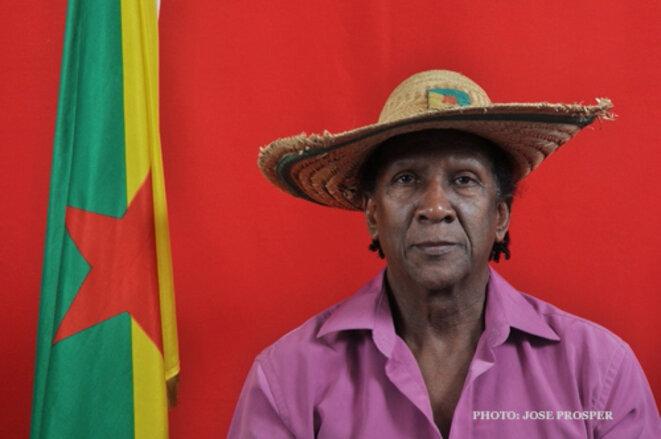 Raymond Charlotte, Organisation Guyanaise des Droits Humains- OGDH. Un des pères vivants de la Nation Guyane. © Servais Alphonsine.