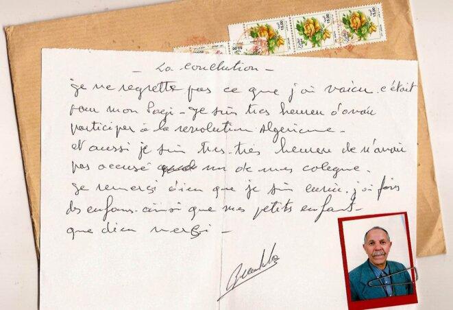 Conclusion écrite à nos conversations téléphoniques accompagnement des archives personnelles, envoyées par la poste en 2008 © Damien Ounouri