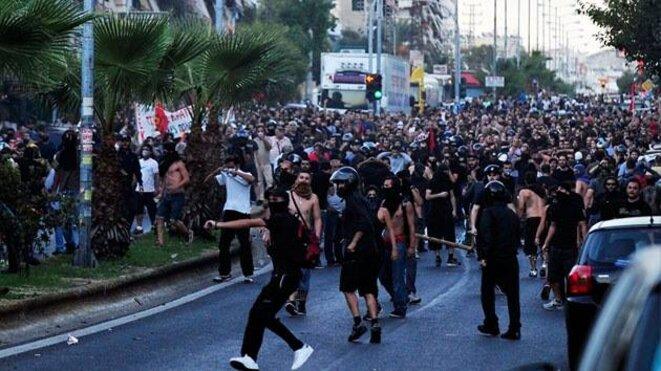 Grèce, le 18/09/2013. Sale temps pour les nazis et l'oligarchie