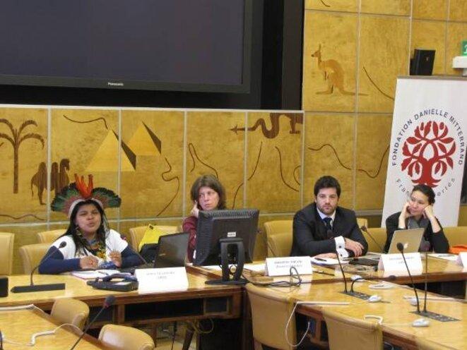 Sonia Guajajara et Alexandre Sampaio dénoncent des violations des droits indigènes à l'ONU. © @xinguvivo