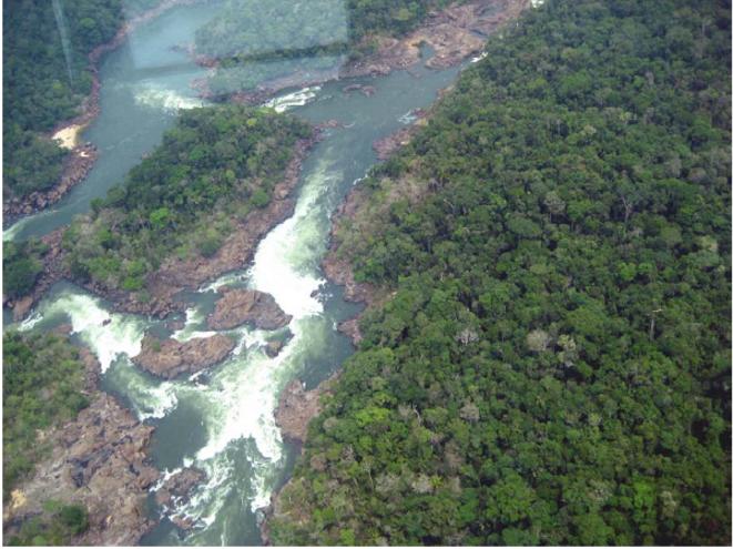 Lieu du futur barrage de Teles Pires © Telma Monteiro