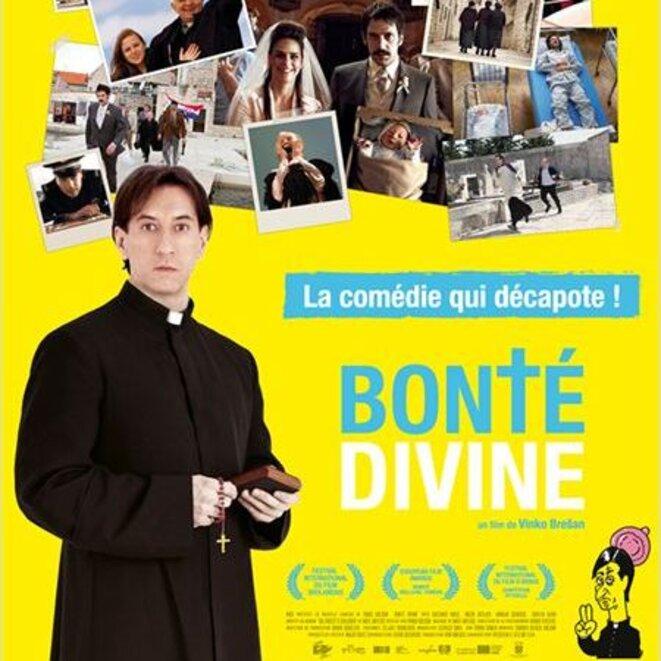 Version française de l'affiche du film Bonté Divine