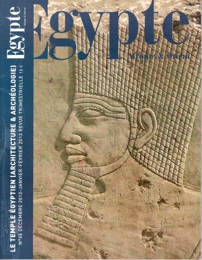 Couverture du numéro 68. © Centre d'égyptologie