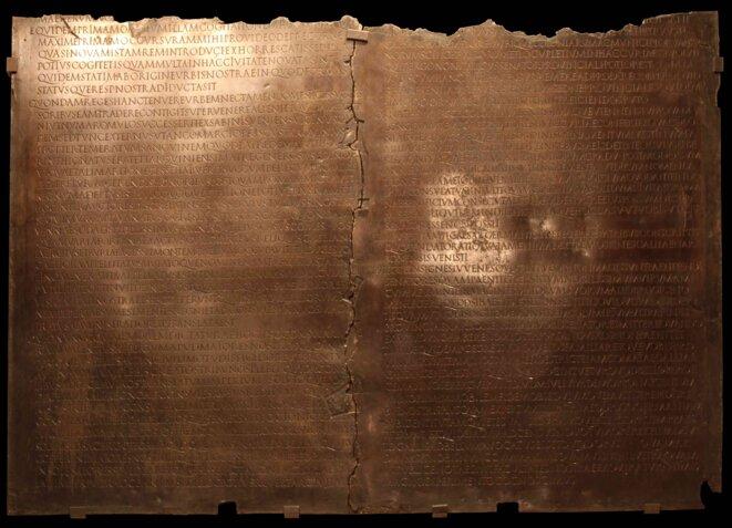 La Table Claudienne découverte à Lyon en 1528.