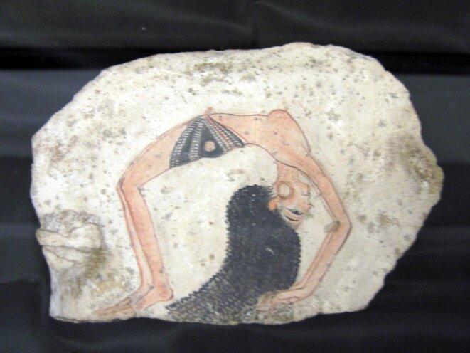 Danseuse acrobate, célèbre ostracon de Turin