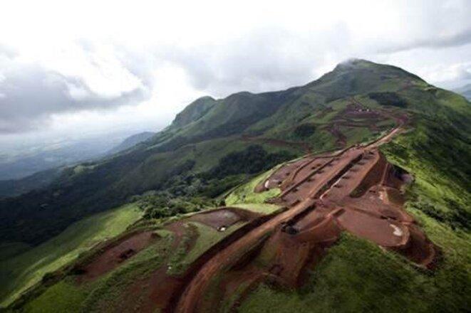 Simandou, le plus grand gisement de minerai de fer au monde. © (dr)