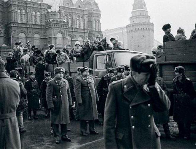 4 février 1990, manifestation près la place Rouge.