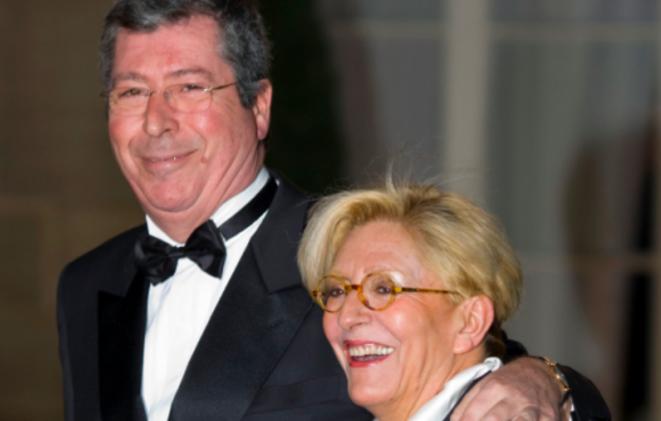 Patrick et Isabelle Balkany, en 2008, à l'Elysée. © Reuters
