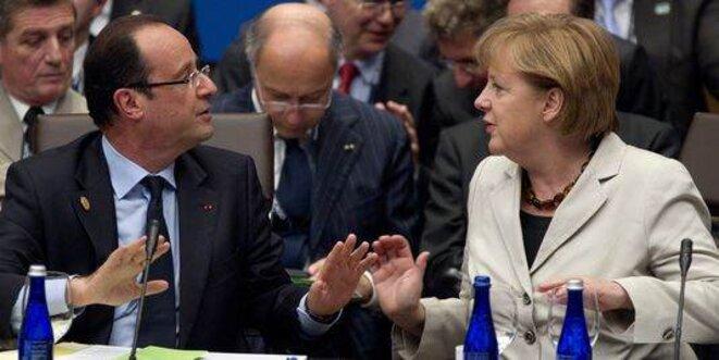 François Hollande et Angela Merkel. © (dr)