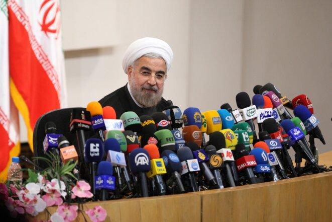 Le président élu Hassan Rohani, le 17 juin 2013 à Téhéran.