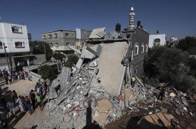 Après un raid sur le centre de la bande Gaza, le 13 juillet. © Reuters