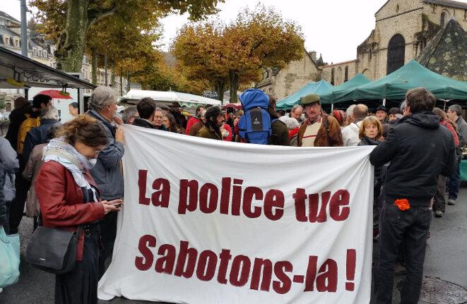 Manifestation à Tulle, le 15 novembre, après la mort de Rémi Fraisse. © (dr)