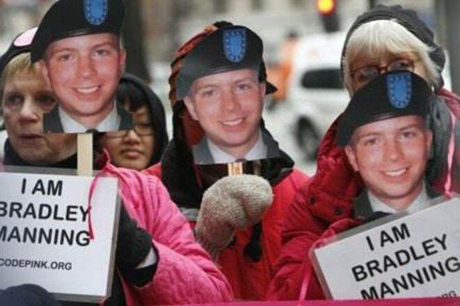 Manifestation de soutien à Manning. © (dr)