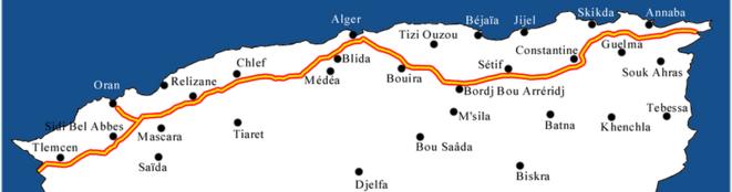 Le tracé de l'autoroute.