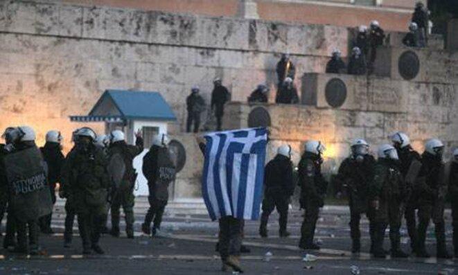Athènes, dimanche soir. © (EPA)