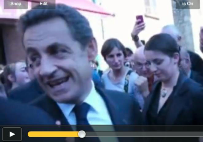 La (non) réaction de Sarkozy, jeudi.