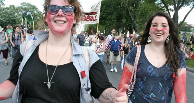 Manifestation à Montréal, le 22 juin. © (ID)