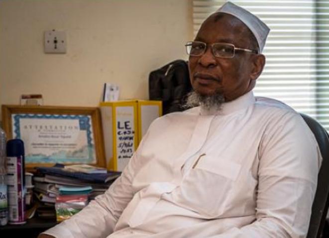 Amadou Bocar Teguete, de la Commission des droits de l'homme. © (T.C.)