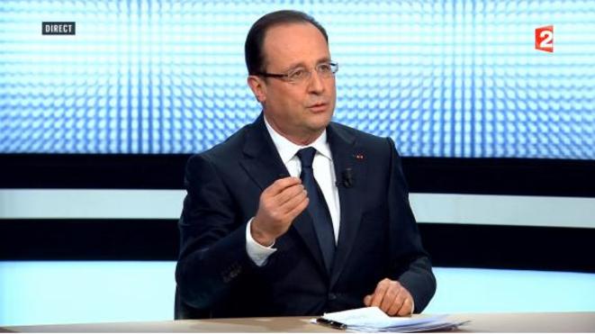 François Hollande le 28 mars sur France2.