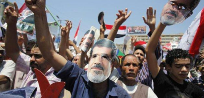 Manifestation pro-Morsi. © (Reuters)