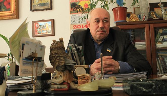 Nikolai Tokarsky, député régional de Marioupol et homme d'Akhmetov.  © Laurent Geslin
